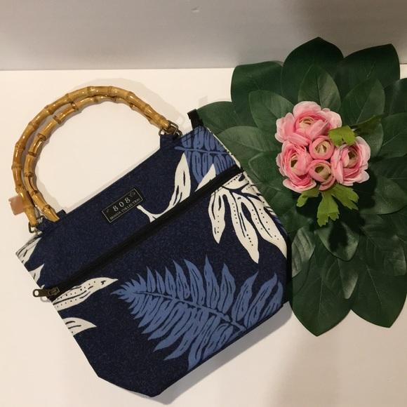 808 Honua Handbags - TOTE bamboo handle bag